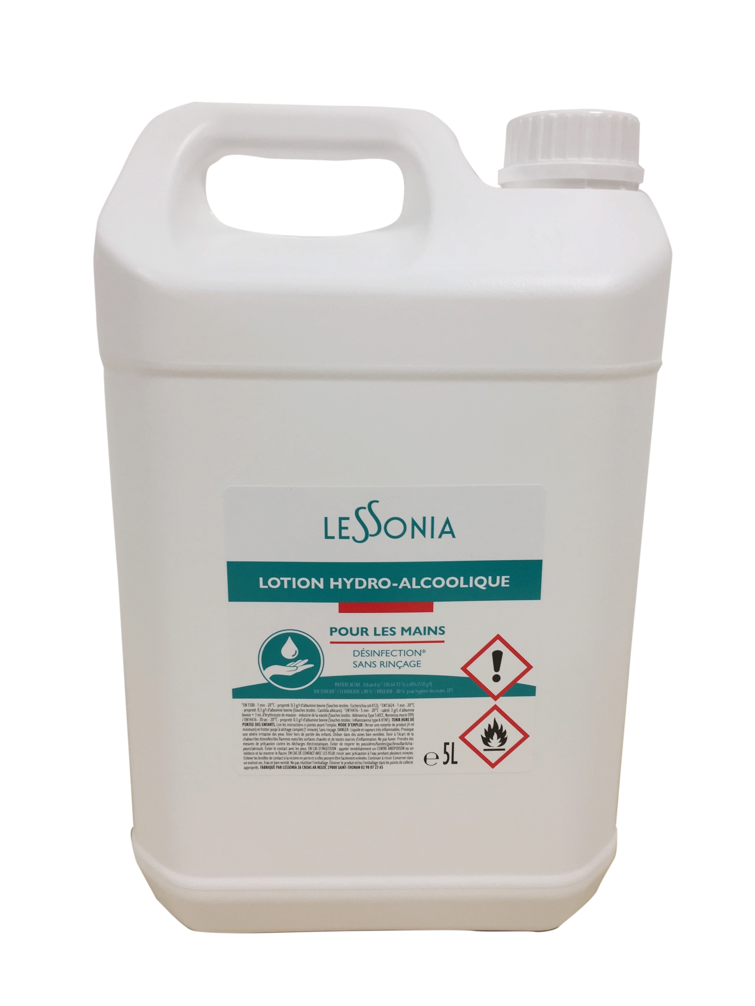 Bidon de solution hydroalcoolique 5L