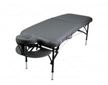 Table de massage pliante en aluminium - Gris