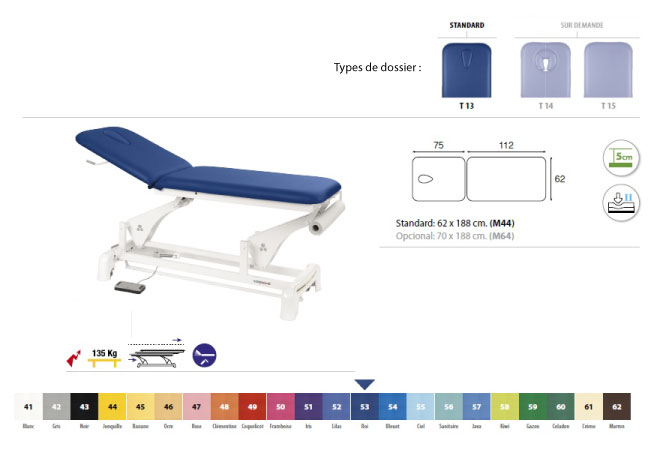 Table ecopostural C3553