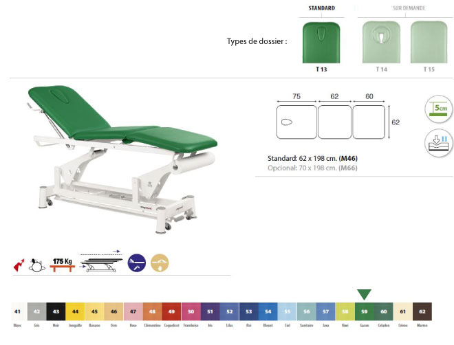 Table ecopostural C5526