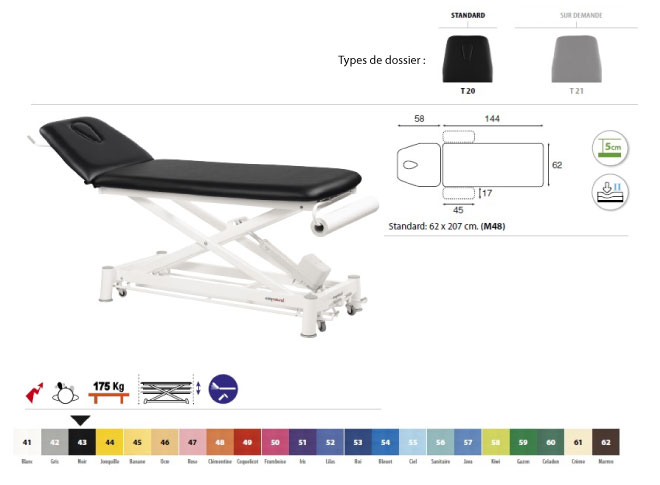 Table ecopostural C7533