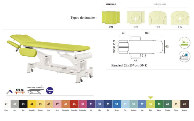 table ecopostural C5744